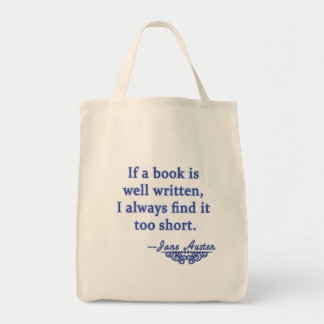 Jane Austen Quote about Books Bag