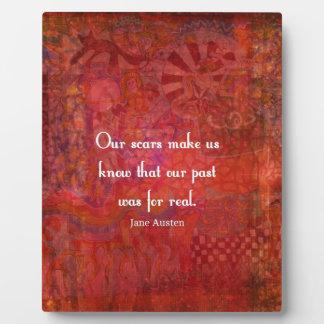 Jane Austen quote about life experiences Photo Plaque