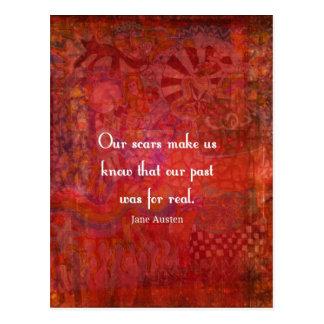 Jane Austen quote about life experiences Postcard