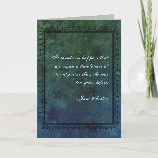 Jane Austen Quote Birthday Card Customized Zazzle