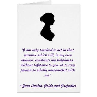 Jane Austen Quote Card
