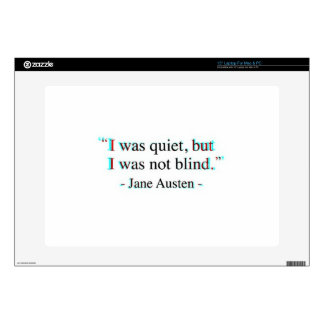 """Jane Austen quote Decal For 15"""" Laptop"""