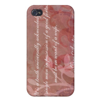 Jane Austen Quote iPhone 4 case