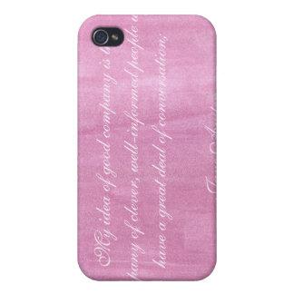 Jane Austen Quote iPhone 4 case