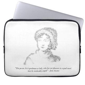 Jane Austen Quote Laptop Sleeve