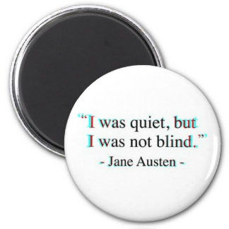 Jane Austen quote Magnet