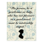 Jane Austen Quote on Books Postal