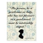 Jane Austen Quote on Books Postcard