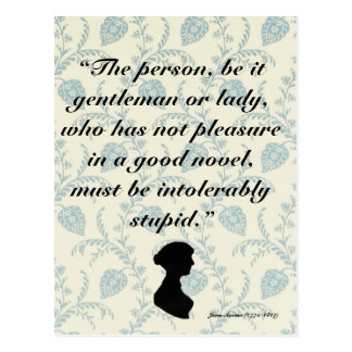 Jane Austen Quote on Books Postcard