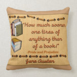 Jane Austen quote - pillow