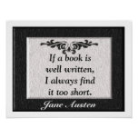 Jane Austen Quote Poster