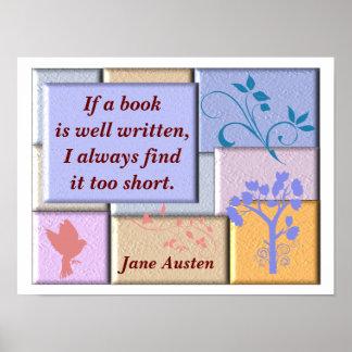 Jane Austen - quote poster