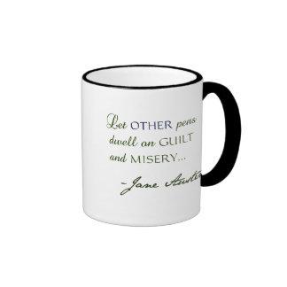 Jane Austen Quote Silhouette Mug