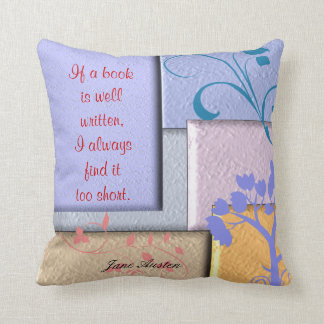 Jane Austen - Quote Throw Pillow