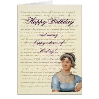 Jane Austen Quote Write your own Birthday Card
