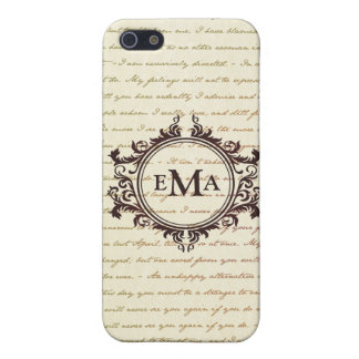 Jane Austen Quotes Monogram Initials Pride iPhone SE/5/5s Cover