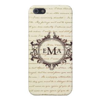 Jane Austen Quotes Monogram Initials Pride iPhone SE/5/5s Cover