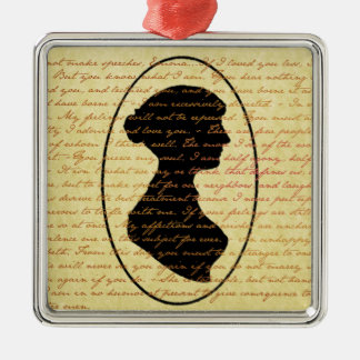 Jane Austen Quotes Pride and Prejudice Christmas Metal Ornament