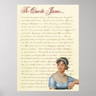 Jane Austen Quotes Pride and Prejudice, Emma, S&S Print
