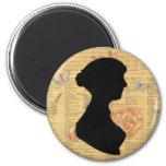 Jane Austen Refrigerator Magnet
