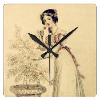 Jane Austen Regency Ball Gown Wallclock