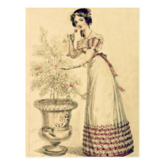 Jane Austen Regency Ball Gown Postcard