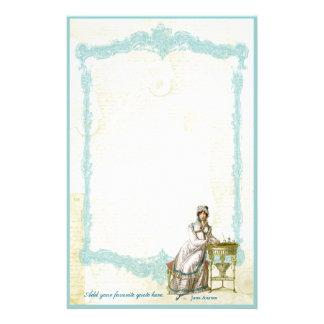 Jane Austen Regency Custom Stationery