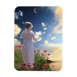 Jane Austen Regency Seaside Letter Magnet