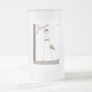 Jane Austen rice Frosted Glass Beer Mug