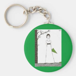 Jane Austen rice Keychain