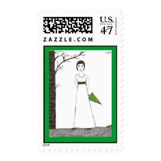 Jane Austen Rice Painting Stamp
