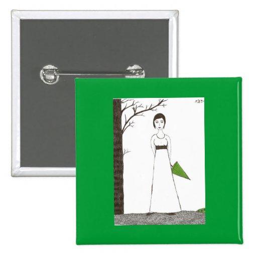 Jane Austen rice Pinback Buttons