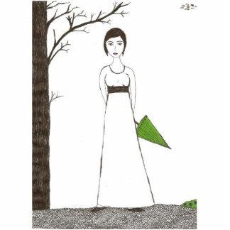 Jane Austen Rice Portrait Cutout