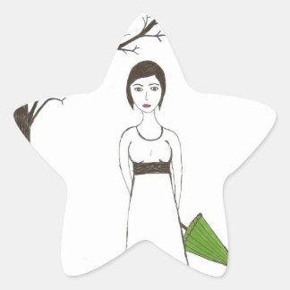 Jane Austen rice Star Sticker