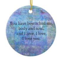 Jane Austen romantic quote Mr. Darcy Ceramic Ornament