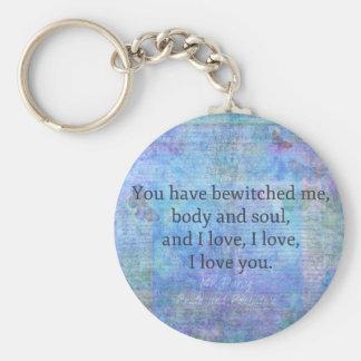 Jane Austen romantic quote Mr. Darcy Keychain