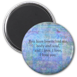 Jane Austen romantic quote Mr. Darcy Magnet