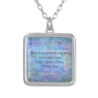Jane Austen romantic quote Mr. Darcy Silver Plated Necklace
