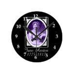 Jane Austen Round Clocks