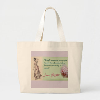 Jane Austen rules Large Tote Bag