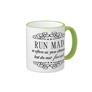 Jane Austen: Run Mad Ringer Coffee Mug