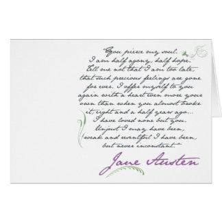 Jane Austen s Persuasion Quote 1 Greeting Card