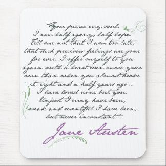 Jane Austen s Persuasion Quote 1 Mouse Pad