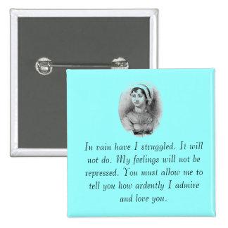 Jane Austen s Pride Pinback Buttons