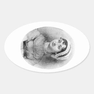 Jane Austen s Pride Oval Sticker