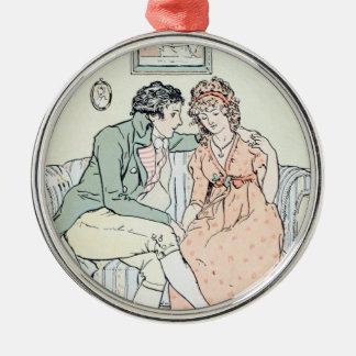 Jane Austen Sense and Sensibility Christmas Metal Ornament