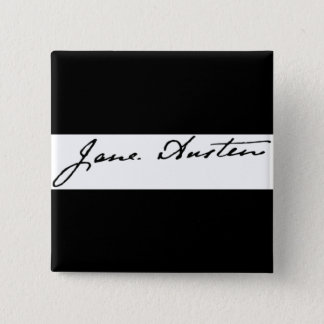 Jane Austen Signature Button