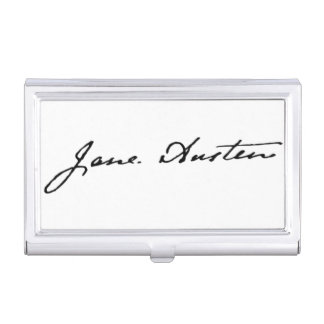 Jane Austen Signature Case For Business Cards