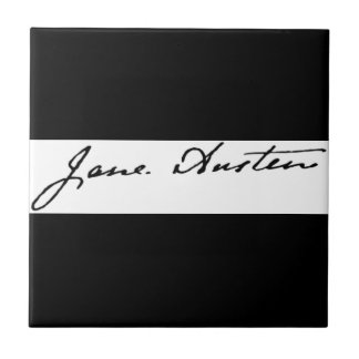 Jane Austen Signature Ceramic Tile