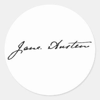 Jane Austen Signature Classic Round Sticker